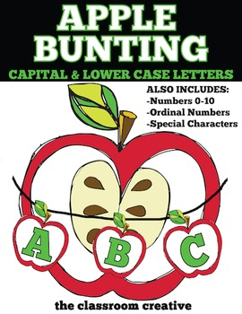 Fall Apple Bunting Mega Pack (Alphabet, Numbers, and More!)