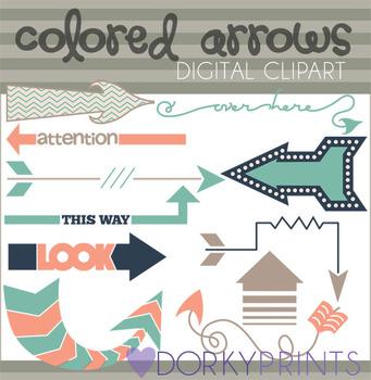 Fun Arrows Digital Clip Art