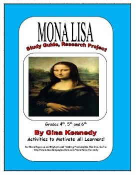 Fun Art Research ENRICHMENT Classroom Project, Mona Lisa, Leonardo da Vinci