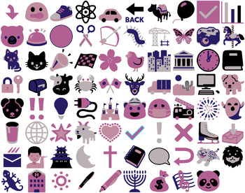 Fun Art & Icons for Activities and Worksheets  - 80 Beautiful Vector Images