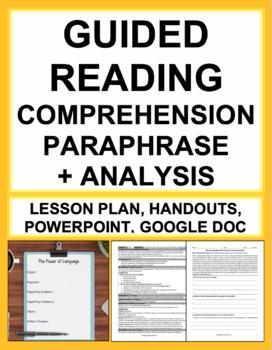 Paraphrase, Main Idea, Argument & Purpose with Engaging Nonfiction Text QR Code!
