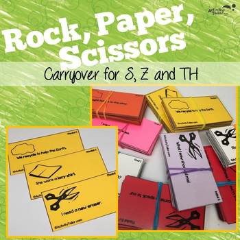 Fun Articulation Games: Rock Paper Scissors Carryover of S Z and TH