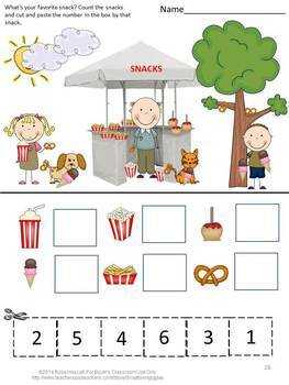 Summer Cut and Paste Activities, Summer Special Education, Summer Review