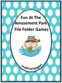 Amusement Park Spring Summer Files Folder Games Special Education Math ELA ESL
