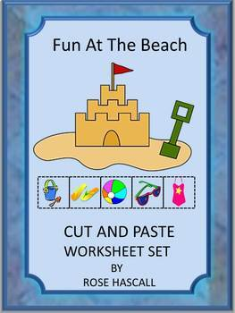 Summer Beach Unit Kindergarten Math & Literacy Centers Cut