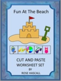 Summer Beach Fun, Cut and Paste Activities, Summer Special Education