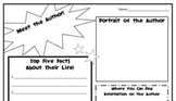 Fun Author Study Graphic Organizer