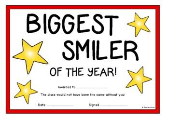 Fun Awards Certificates (End of Year)