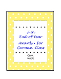 Fun End-of-Year Awards * For German Class