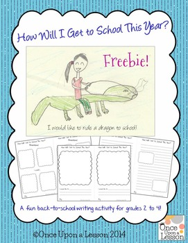 Fun Back To School Writing Activity Grades 2 to 4
