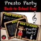 Fun Back to School Presto Party Treble Clef Note Naming Music Game
