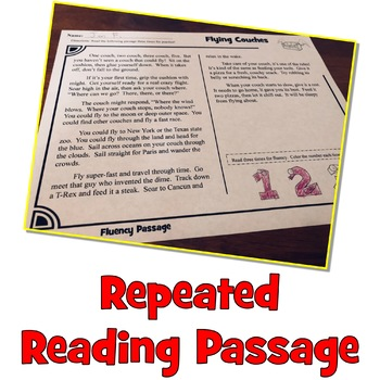 Reading Comprehension Passage and Questions + Fluency FUN