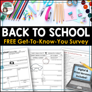 Back to School Student Survey - FREE