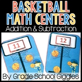 Addition and Subtraction Centers: Basketball Math