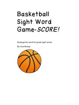 Fun Basketball Themed Sight Word Card Game