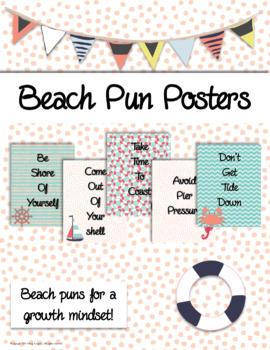 Beach Pun Posters