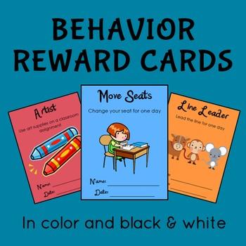Fun Behavior Reward Cards