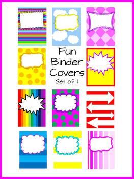 Fun Binder Covers - Set of 11