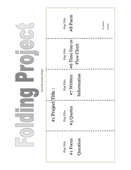 Fun Bio Folding Project with Template and Rubric