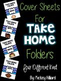 communication Folder - cover Sheets (Blue Design With Kids
