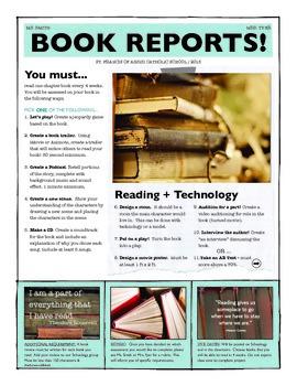 Fun Book Report Options