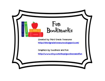 Fun Bookmarks for Elementary
