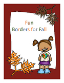 Falling into Fall Borders Freebie