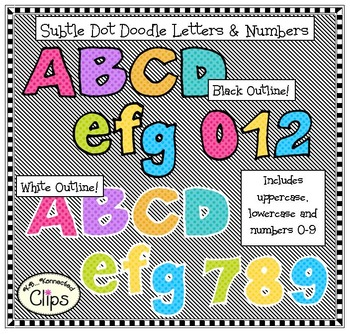 Fun, Bright, Chunky Letters and Numbers