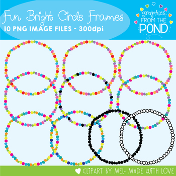 Fun Bright Circle Frames