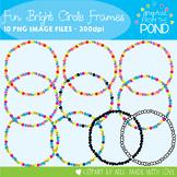 Fun Bright Circle Frames