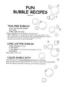 Fun Bubble Recipes