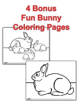 Fun Bunny Clip Art with Bonus Activity Pages