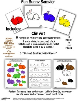Fun Bunny Sampler  Clip Art and Activity Pages