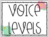 Fun Cactus Voice Levels for Classroom Management