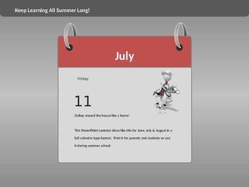 Fun Calendar Activities