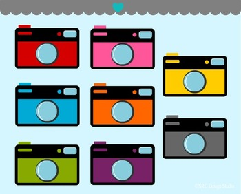Cameras clipart commercial use