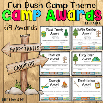 fun camp awards editable by unique ideas with mrs s tpt