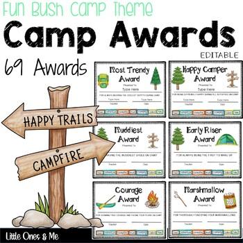 Fun Camp Awards Editable