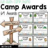 Fun Camp Awards Certificates Editable Bush Theme