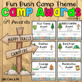 Fun Camp Awards Certificates Editable Bush Theme