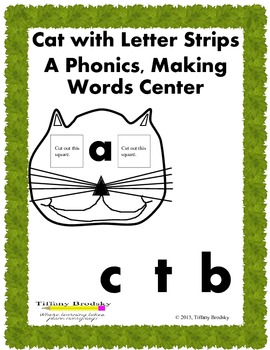 Fun Cat Phonics, Making Words Reading Center or Game. For