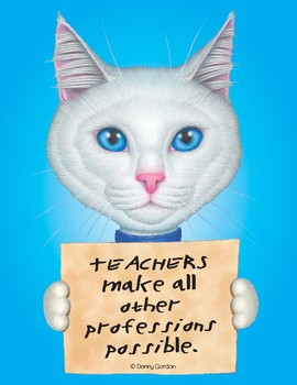 Fun Cat Poster with Quote Isabella4 the Cat