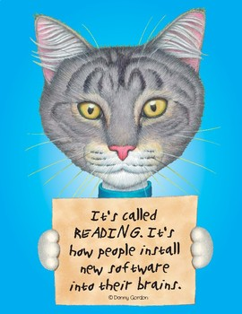 Fun Cat Poster with Quote Tabitha3 the Cat