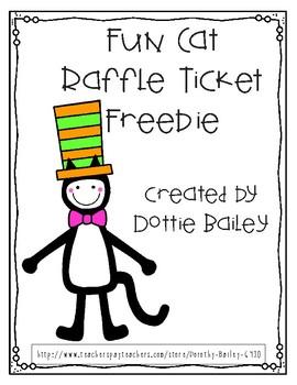 Fun Cat Raffle Ticket Freebie