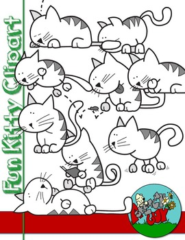 Fun Cats / Kittens Clipart Graphics Free / Freebie