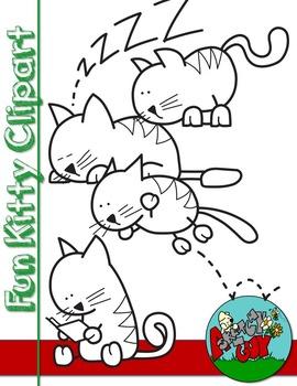 Fun Cats / Kittens Clipart Graphics Free / Freebie