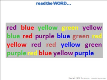 Mental Challenge - Colour:Words (FREE)