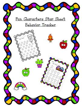 Fun Characters Behavior Tracker