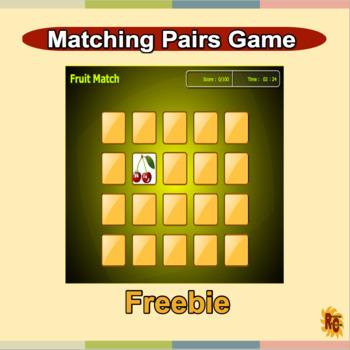 Free Matching Pairs - Fruit Match Game