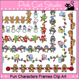 Borders - Fun Characters Winter and Christmas Frames  - Commercial Use Okay